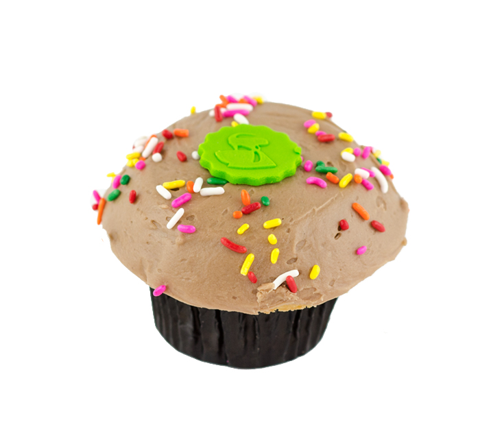 We Bake Our Cupcakes Fresh Daily Shown Old Fashioned Birthday Cake Cupcake